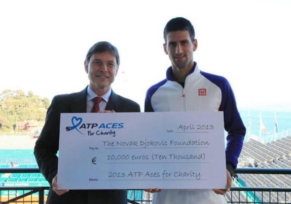 Novaku uručena nagrada ATP ACES for Charity programa za humanitarni rad
