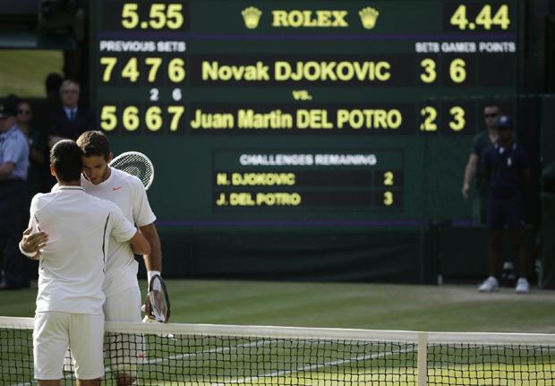Novak i Del Potro su 2013. odigrali najduže polufinale u istoriji Vimbldona...