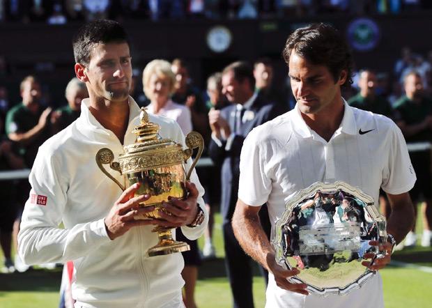 Novak je jedini teniser koji je pobeđivao Rodžera Federera na sve četiri Gren Slem turnira...