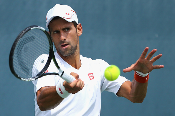 CINCINNATI, OH - AUGUST 18:  Novak Djokovic of Serbia practices during Day 4 of the Western & Southern Open at the Lidler Family Tennis Center on August 18, 2015 in Cincinnati, Ohio.  (Photo by Maddie Meyer/Getty Images)