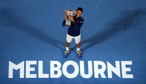 Mesto: Melburn Datum: 31.01.2016 Dogadjaj: SPORT/TENIS - meè Novak Ðokoviæ - Endi Marej u finalu Australian Open teniskog turnira  Licnosti: Novak Ðokoviæ