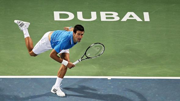 ___ prvi Novakov rival u Dubaiju