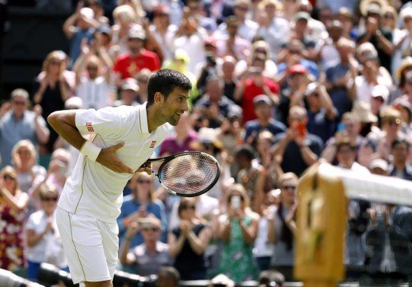 Mesto: London Datum: 27.06.2016 Dogadjaj: SPORT/TENIS/VIMBLDON - srpski teniser Novak Djokoviæ pobedio je Britanca Džejmsa Vorda na Vimbldonskom turniru (Wimbledon Tennis Championships) Licnosti: Novak Djokoviæ (Srbija)
