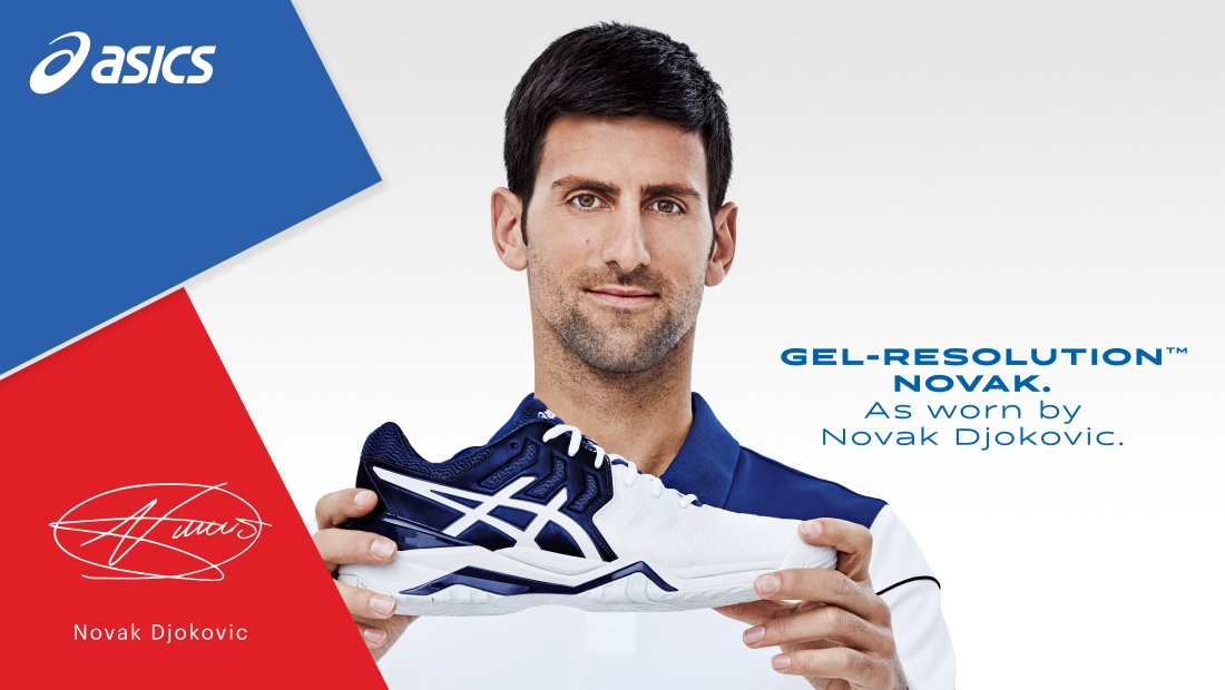Novak signs with Asics Footwear, introduces new shoe