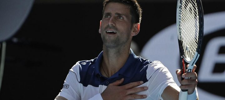No.14 seed Novak Djokovic survived a scorching Melbourne summer's day and  an early challenge from Gael Monfils on Thursday to reach the Australian  Open ...