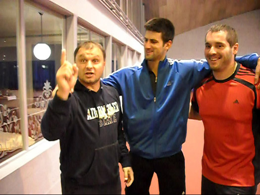 Photo of Novak Djokovic & his friend  Marian Vajda
